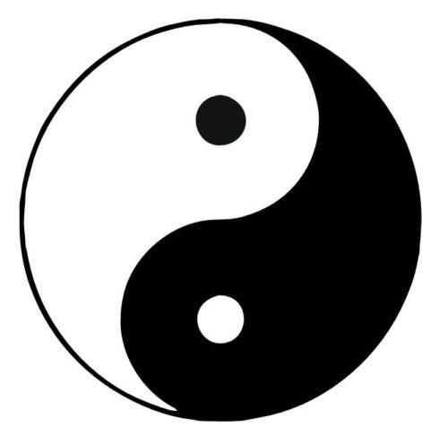 Decal Vinyl Sticker Yin and Yang Symbol #920 Custom Made to Order