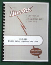 Hickok 800 Instruction Manual Amp Tube Charts11x17 Schematic Amp Protective Covers