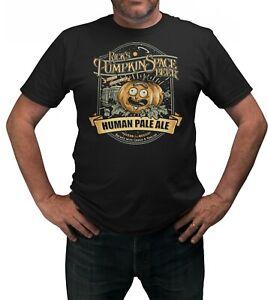 Pumpkin-Rick-amp-Morty-Halloween-T-Shirt-Adults-Sizes-Black-100-Cotton-Shirt