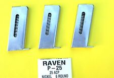 Replacement P25 Magazine 6 Round .25 Cal Raven Arms MP-25