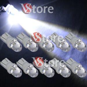 10X-Veilleuses-LED-T10-ampoules-5W-BLANC-Lampe-Xenon-Feu-de-position-plaque