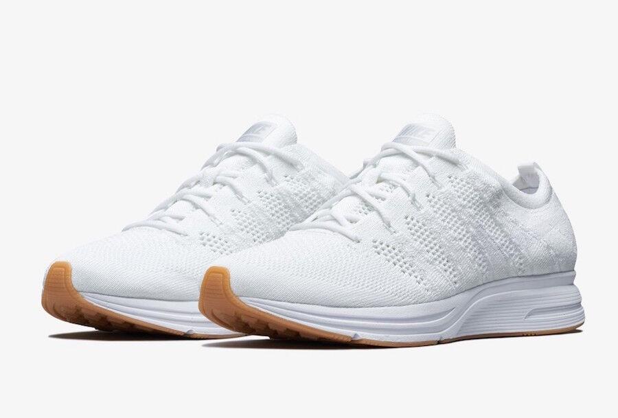 Mens Nike Flyknit Trainer AH8396-102 White/White Brand New Size 6