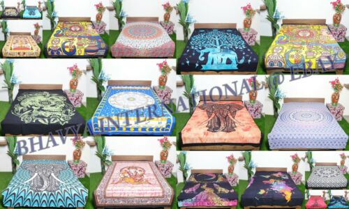 10Pc Wholesale Lot Queen Size Mandala Tapestry Assorted Design Yoga Beach Throw