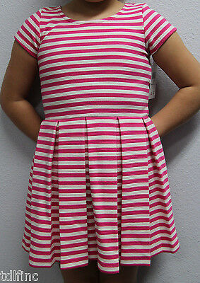 *NEW Polo Ralph Lauren Girl's Short Sleeve Pink white striped Dress size 5 #149