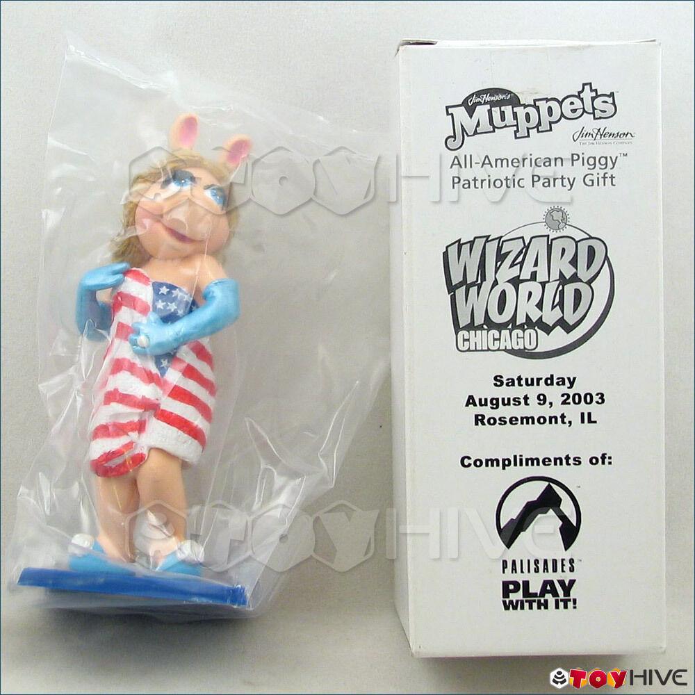 Mupparna Palisades 2003 Wizard värld Miss Piggy All -American Patriotic Piggy