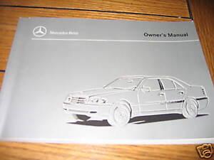 1999 mercedes c class 230 280 owners manual c280 43 amg ebay rh ebay com mercedes c180 owners manual mercedes c200 owners manual