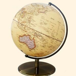 QUALITY Clear View World Globe Antique Embossed Raised Relief Educational 30cm