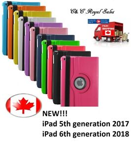 NEW-Rotating-360-Smart-Case-Cover-for-iPad-5th-2017-amp-iPad-6th-2018-generation