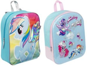 Image Is Loading Girls My Little Pony 3D Backpack Rainbow Dash