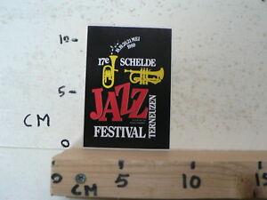 STICKER-DECAL-JAZZ-FESTIVAL-TERNEUZEN-17E-SCHELDE-MEI-1989-MUSIC