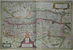 Austria Archiducatus - Österreich - Hondius 1635 - Originale altkolorierte Karte - Hamburg, Deutschland - Austria Archiducatus - Österreich - Hondius 1635 - Originale altkolorierte Karte - Hamburg, Deutschland