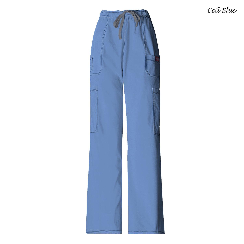 b8fe798c29a Dickies Gen Flex Men's Scrub Pants Ceil Blue Size Large Style 81003 for  sale online | eBay