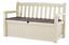 140 x 60 x 84 cm-Beige Keter Eden Bench Outdoor Storage Box Garden Furniture