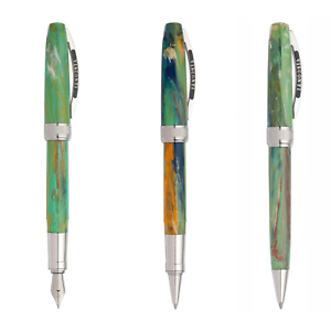 Visconti Van Gogh Irises iris penna stilografica roller sfera