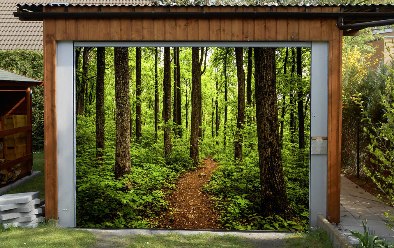 3D Forest Trail 46 Garage Door Murals Wall Print Decal Wall Deco AJ WALLPAPER IE