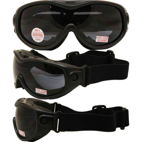 Global Vision ALL Star Foam Padded Anti Fog Goggles with Smoke Lens