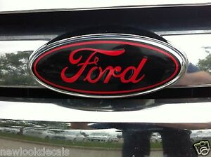 Oval emblem STICKER DECAL OVERLAYS Fits 09 10 11 12 13 14 FORD F150