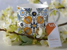 V&A DUTCH Painted Tiles FINE CHINA CAN MUG
