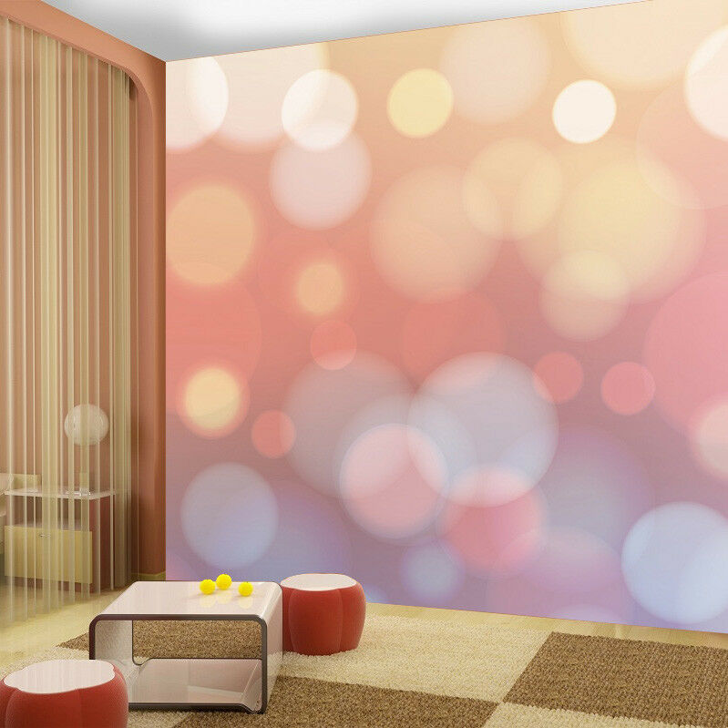 Pink Dots Girl Patel Colour Wallpaper Photo Mural Kids Bedroom Home decoration