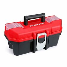 Tool Box Portable 13 With Removable Tray Heavy Duty Toolbox With Metal Latch