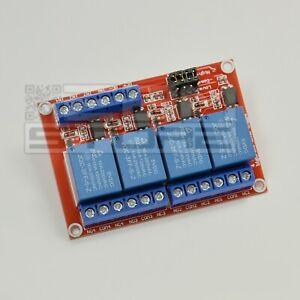 Scheda 4 relè 5Vdc relay per arduino / pic - ART. CQ03