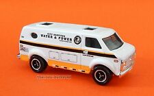 2008 Matchbox Loose 1975 Chevy Van White City Water and Power Combine Shipping