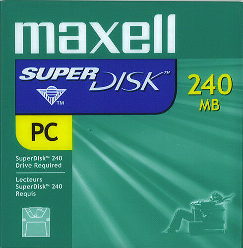 Maxell 570325 SuperDisk 240MB PC Format (10-pack) -NEW