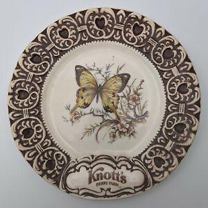 Vintage Treasure Craft Knott's Berry Farm  Butterfly Commemorative Plate