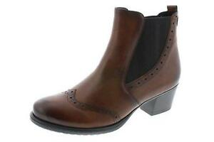 24 Brown Chelsea D3188 Remonte Heeled Boots Leather 7AvHq