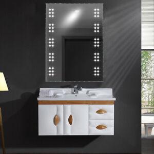 Bathroom shavingmakeup wall mirror led light up wdemistershaver image is loading bathroom shaving makeup wall mirror led light up aloadofball Images