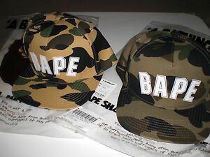 6b5da16e1d4 Authentic A Bathing APE BAPE 1ST CAMO BAPE LOGO SNAP BACK CAP GREEN ...