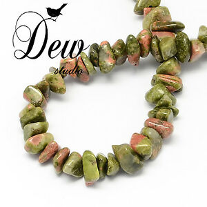 Natural-Unakite-Stone-Bead-Chips-Beads-about-320pcs-AU-SELLER-FREE-POSTAGE