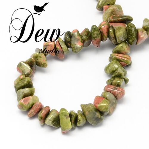 about 320pcs AU SELLER FREE POSTAGE Natural Unakite Stone Bead Chips Beads