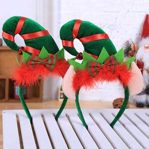 Eg-Natale-a-Punta-Cappello-Fiocco-Fascia-Bambini-Adulto-Capelli-Decorazione