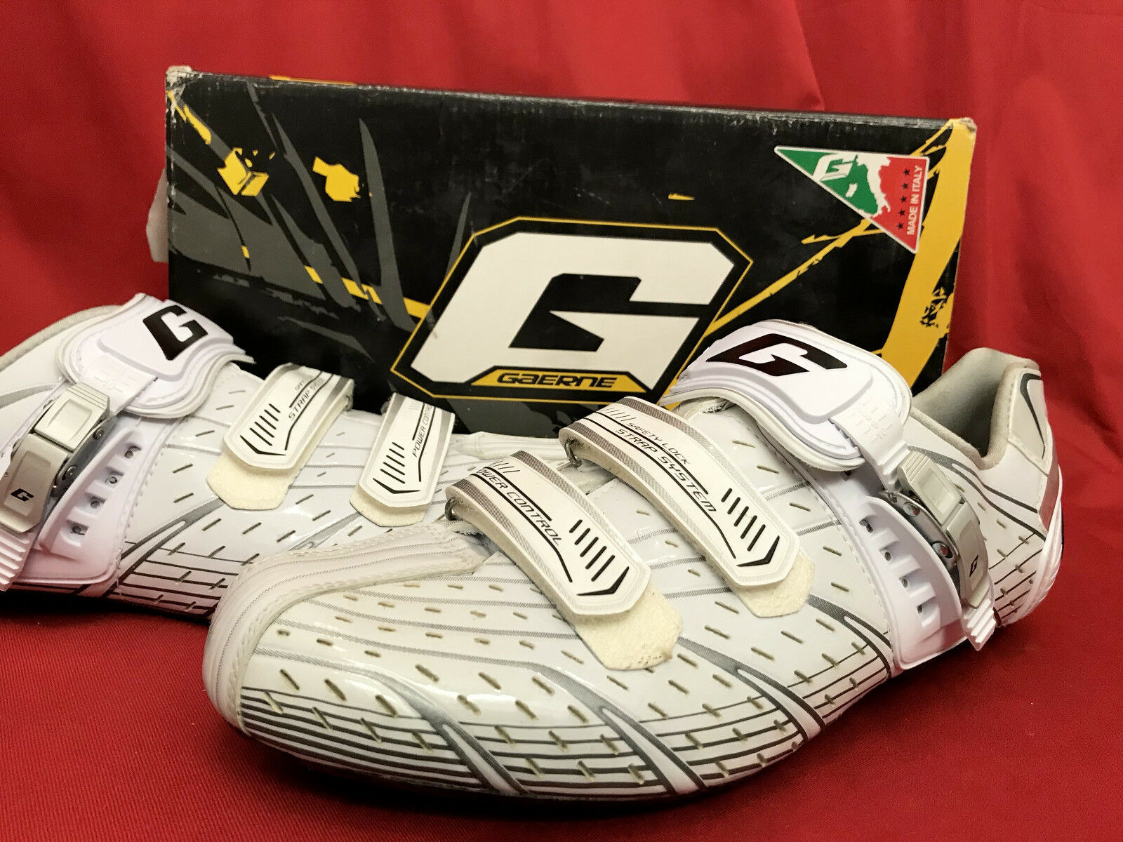 NEW GAERNE G. MYST professional design Carbon race cycle shoes shoes white EU47