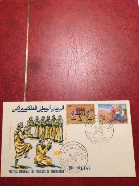 Adaptable Maroc Timbres 1973 Fdc Folklore Festival