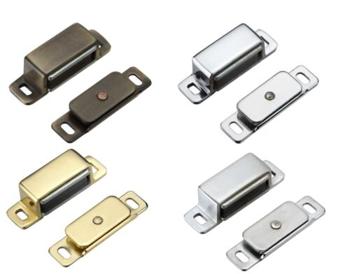 30 x Heavy Duty Magnetic Catches 6Kg Magnetic Force Various Finishes