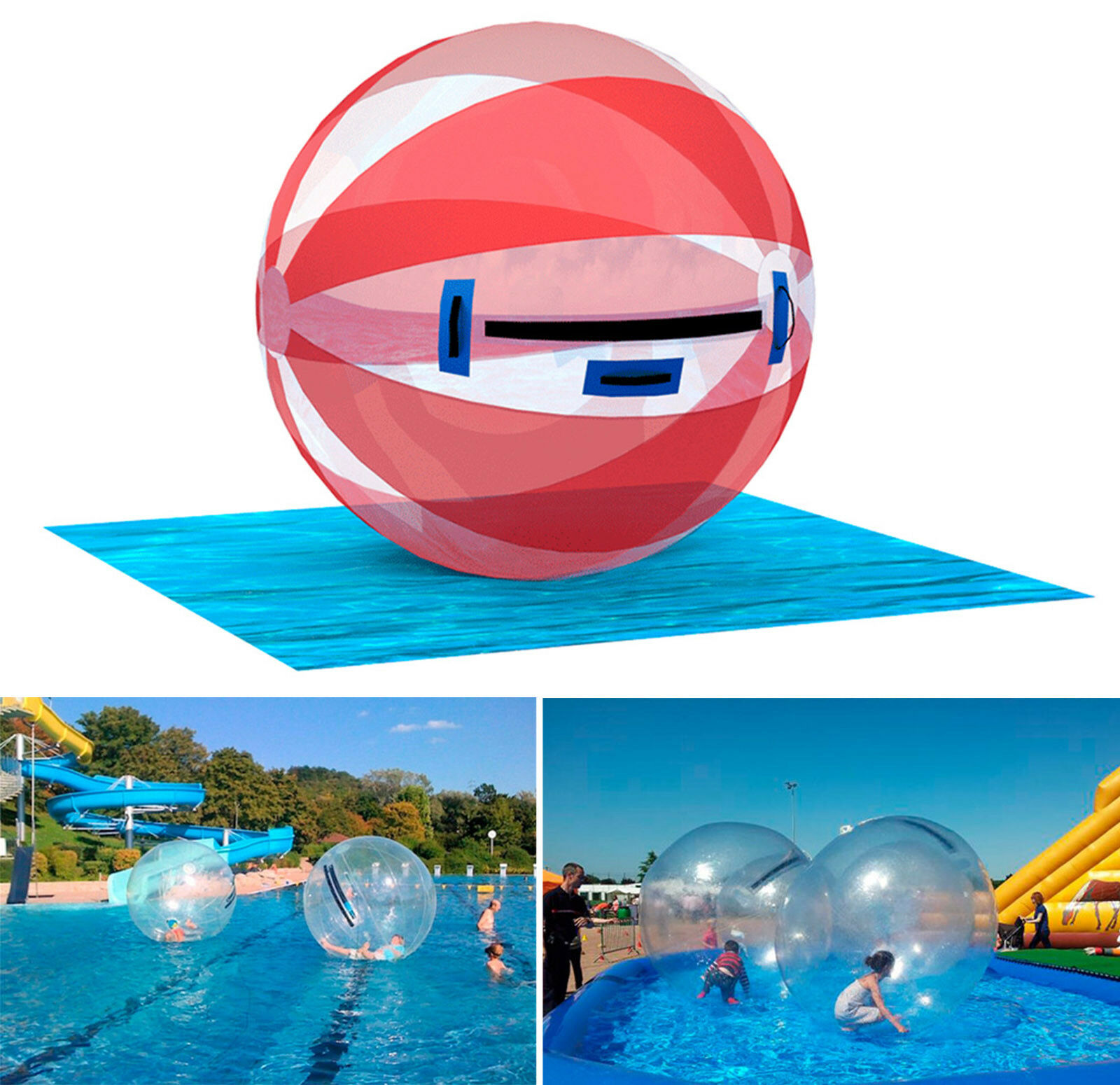 TPU Inflatable Walking Rolling Rolling Rolling Balloon Zorb  Water Ball 2m PREMIUM 400b98