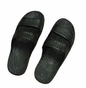 66970063758aca Image is loading Rubber-Sandal-Slippers-Double-Strap-Slide-on-Hawaii-