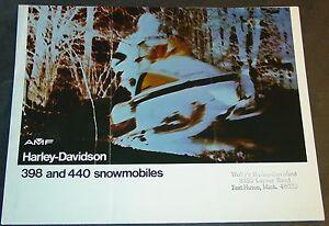 1974-AMF-HARLEY-DAVIDSON-SNOWMOBILE-BROCHURE-NICE-4-PG-893