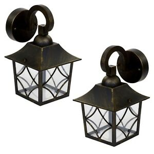 1 or 2 homebase shabby chic outdoor wall security led light class