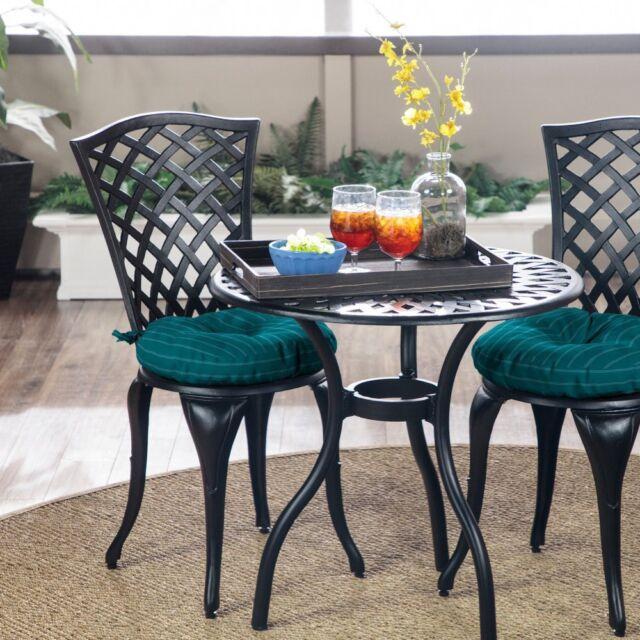 Phenomenal Premium Acrylic Set Of 2 15 Round Bistro Chair Cushions Outdoor Seat Pads Interior Design Ideas Helimdqseriescom