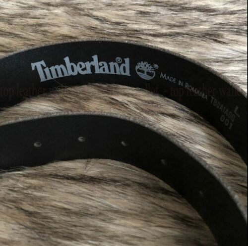 Timberland Men/'s Loop Stitched Genuine Leather Size L-40 Black Belt