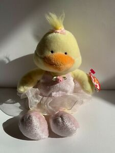Used Ty beanie baby plush toy. Allegro the ballerina duck. Rare, authentic 2005.