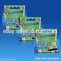 Dorco Pace 6 Plus Razor Cartridges, 6 Blades W/trimmer Sxa5040 (12 Cartridges)