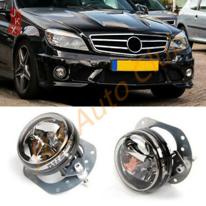 Smoked finish H11 fog lights front lower lights for Mercedes R-Class W251 fr 09