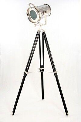 Standstrahler KINO Lampe Stehlampe Metall vernickelt schwarz NEU Sit Möbel 1073
