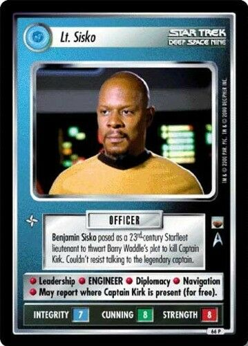Sisko Mint//Near Mint The Trouble with Tribbles STCCG Decipher 1 Star Trek: Lt