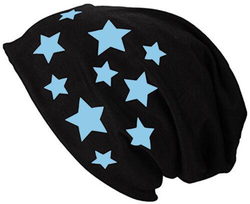 Dame Sommermütze Jersey Beanie Stern Sterne Mütze Long Beanie Frühlingsmütze