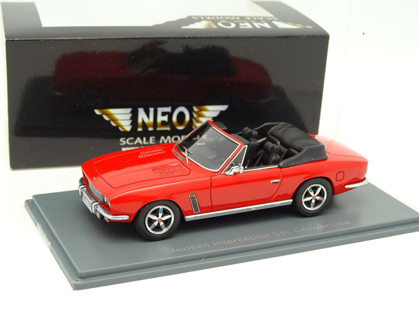 Neo 1 43 - Jensen Interceptor Siii Cabriolet 1975 Rot
